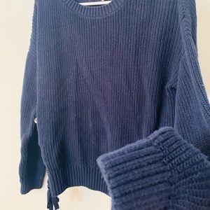 l.o.g.g Sweaters - Beautiful Navy Chunky Sweater